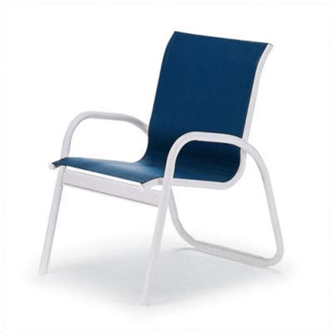 Stacking Sling Chair by Telescope Casual Gardenella Sling Stacking Arm Chair Set