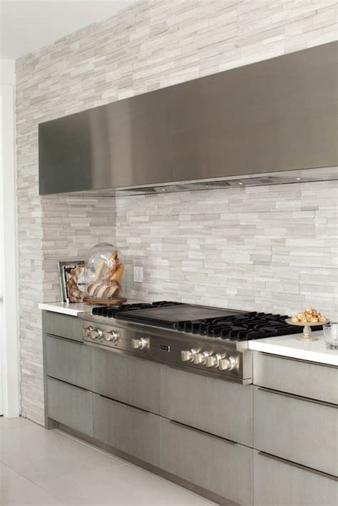 Linear Tile Kitchen Backsplash Linear Tile Backsplash Modern Kitchen The Cross