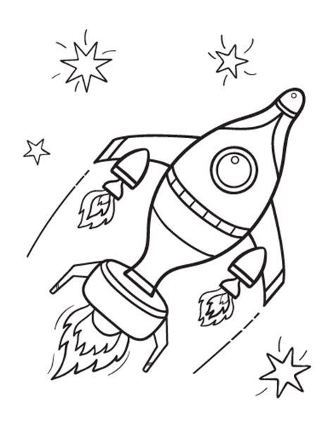 free rocket ship coloring page
