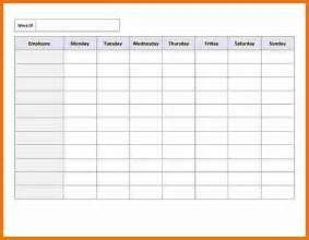 Weekly Employee Schedule Template Free Employee Schedule Calendar Template Bing Images