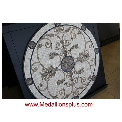 audrey 48 quot mosaic tile floor medallion medallionsplus