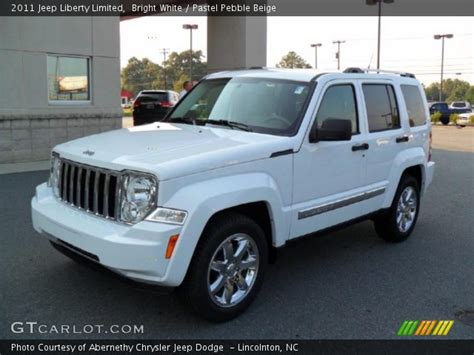 beige jeep liberty bright white 2011 jeep liberty limited pastel pebble