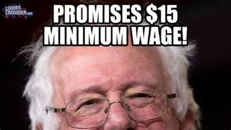Minimum Wage Meme - exposed the hypocrisy of bernie sanders on minimum wage