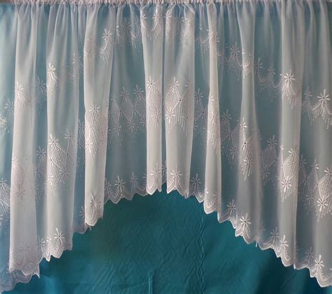 Antonia White Embroidered Voile Jardiniere Net Curtain 2