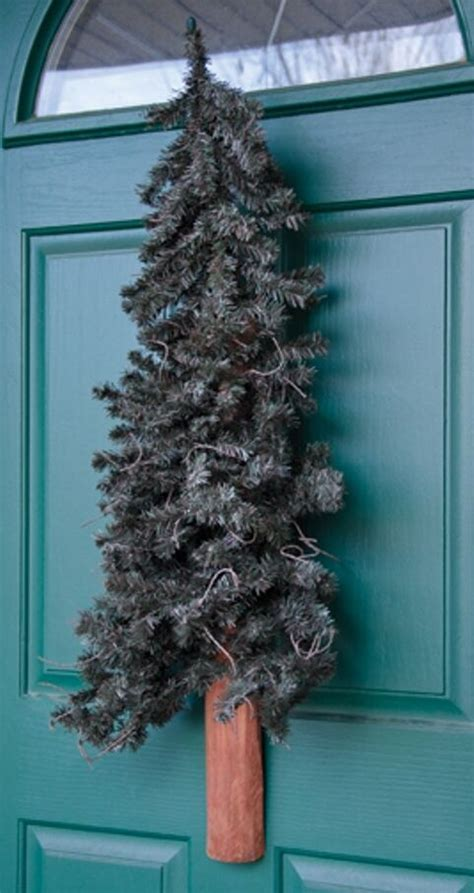 rustic alpine  wall door christmas tree  ft accent artifical floral  ebay