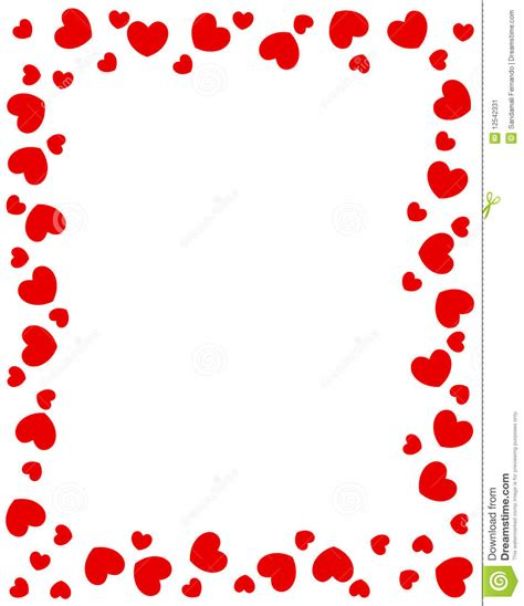 red hearts border stock vector image of enticing date