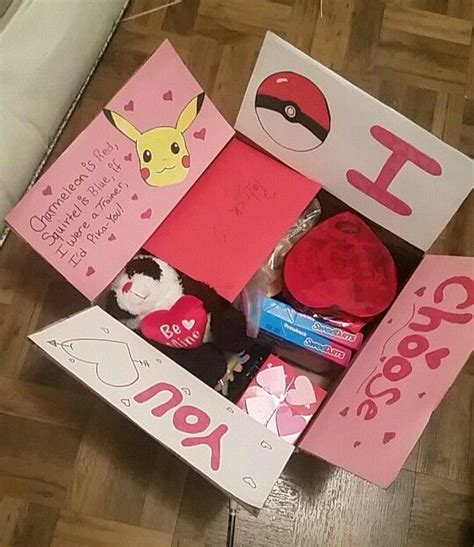 day gift for fiance valentines day themed care package care package