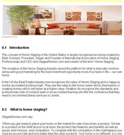 home stager home staging career