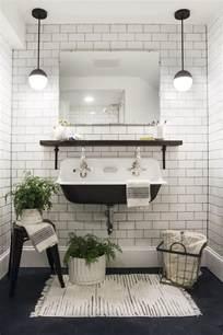 black and white tile bathroom ideas best 25 white subway tiles ideas on