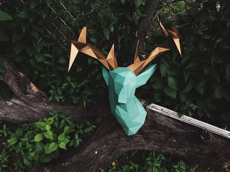 diy deer template faux deer papercraft model diy template