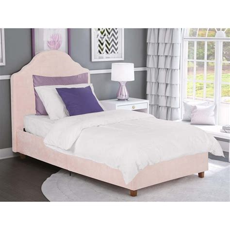 pink platform bed upholstered twin platform bed in pink rose quartz 4075719