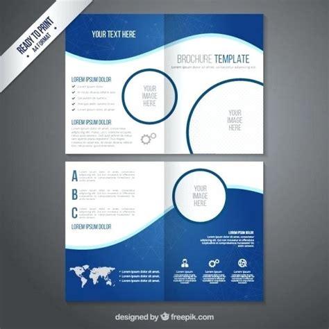 simple brochure template vector free download