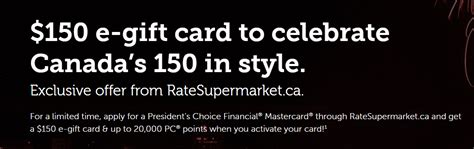 Pc Points Gift Cards - 加国理财网 申请pc financial mastercard得 150 gift card 20000 pc points