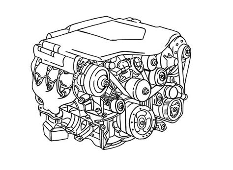 Car Engine Coloring Page | car engine parts coloring pages best place to color