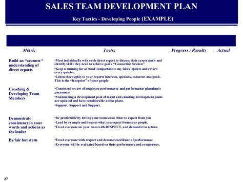 individual sales plan template exle global sales marketing business plan