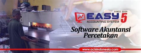 Software Percetakan software akuntansi percetakan easy accounting system