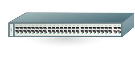 switch visio free vector graphic switch network ethernet computer