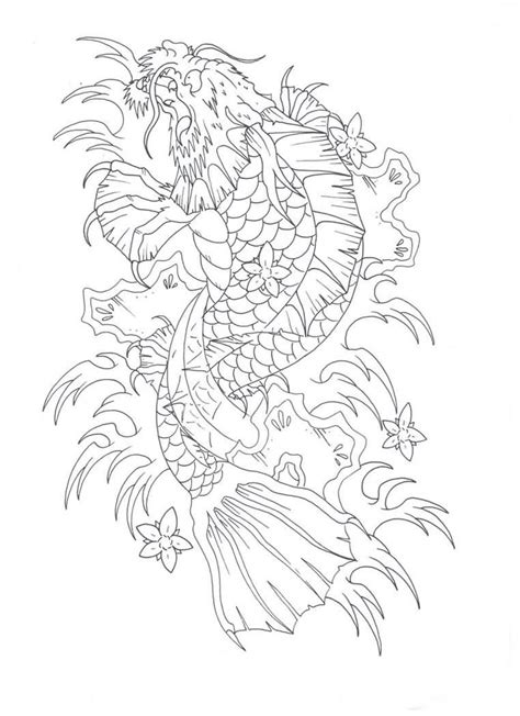 koi fish tattoo outline designs koi fish design outline www imgkid the