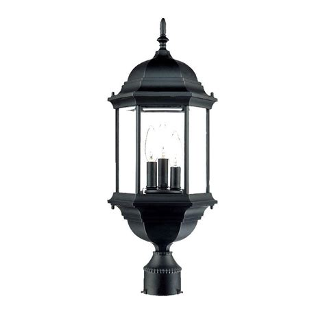 Mounted Light Fixture Acclaim Lighting 3 Light Matte Black Outdoor Post Mount Light Fixture 5187bk The Home