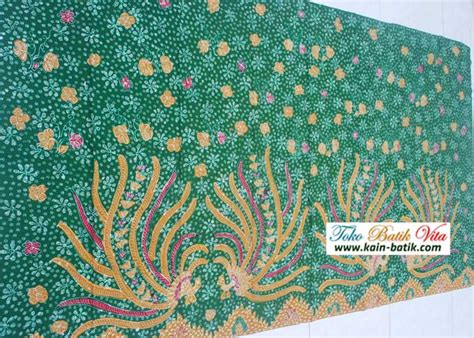 Batik Tulis Motif Anggur Hijau batik hijau burung merak 20101306 kain batik murah