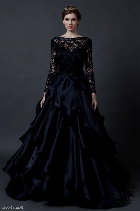 Black Wedding Dresses With Lace Sleeves Naf Dresses
