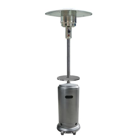 Garden Treasure Patio Heater Shop Garden Treasures 41 000 Btu Hammered Silver Steel Liquid Propane Patio Heater At Lowes