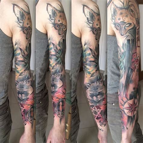 animal tattoo sleeve designs animal sleeve tattoo best tattoo ideas gallery