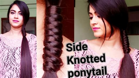 hairstyles for college girl in india indian hairstyles for medium to long hair side knotted