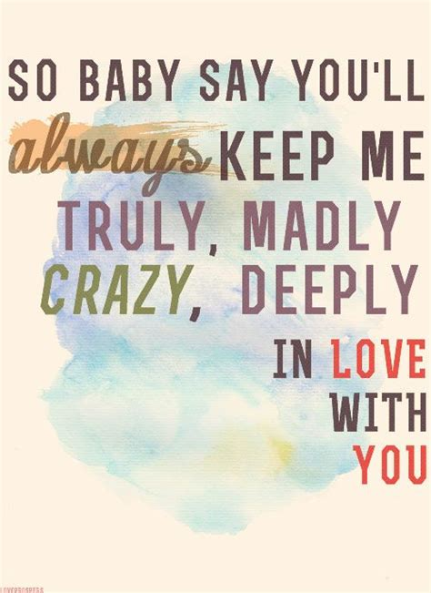 One Direction Truly Madly Deeply by Truly Madly Deeply In With You We It