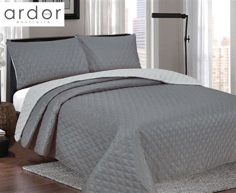 charcoal coverlet ardor boudoir windsor reversible queen king bed coverlet
