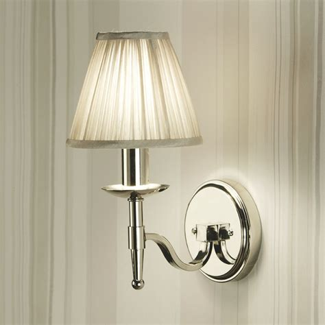light shades for wall lights stanford nickel single wall light beige shade