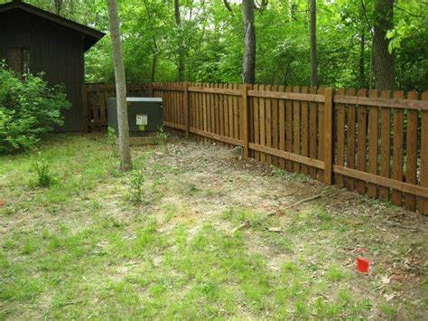 fencing wood fence installations  missouri wood