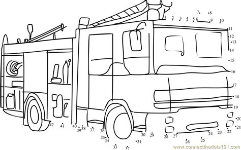 printable fire truck maze fire rescue vehicle dot to dot printable worksheet