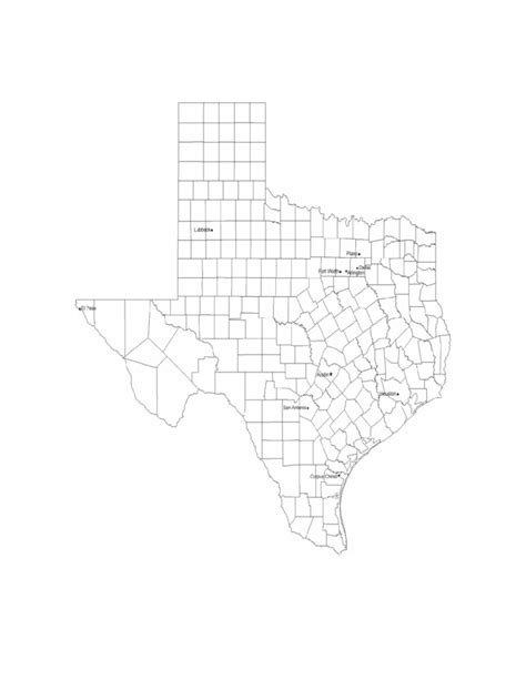 texas county map with city names map of texas cities with city names free