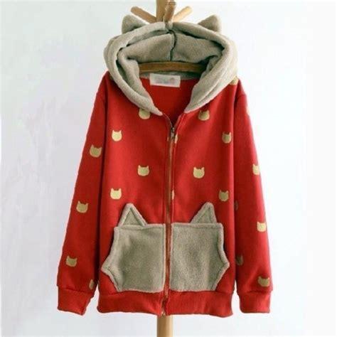 Cat Hoddie Jaket jacket hoodie cat ears wheretoget