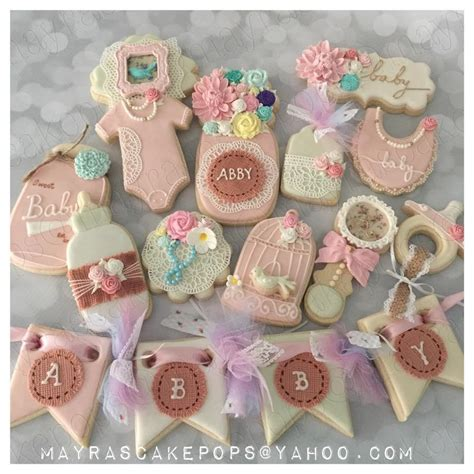 baby shower shabby chic shabby chic baby shower cookie connection
