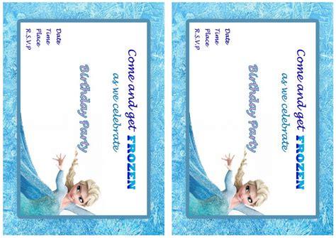 frozen birthday invitations birthday printable