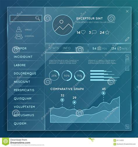 Glass Website Elements Templates Vector Set Stock Vector Image 61114503 Glass Website Templates