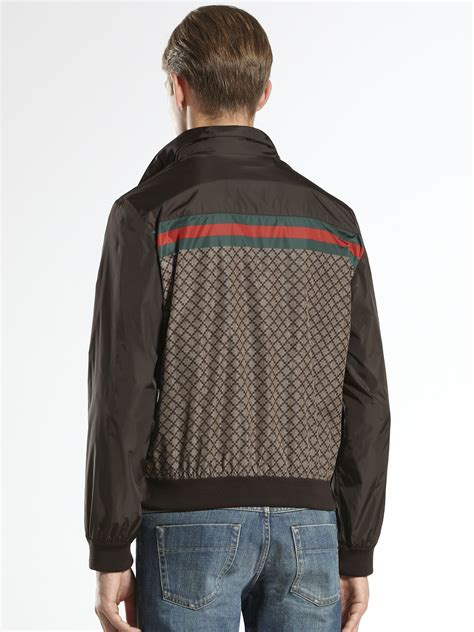 Jaket Gucci 2 gucci diamante jacket in brown for lyst