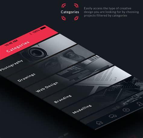 design inspiration app iphone mobile app design inspiration behance plus designbeep