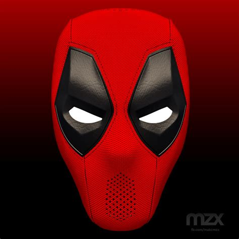 How To Make A 3d Mask Out Of Paper - deadpool mask v 1 1 for 3d printing diy