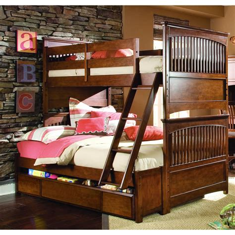 wooden bunk beds with stairs furniture brown wooden full bunk beds with stairs and