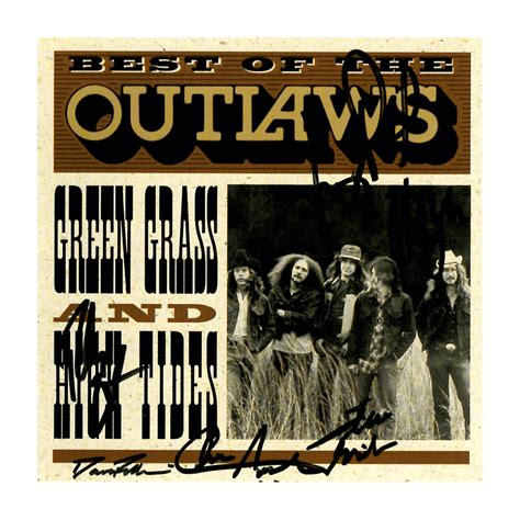 The Outlaws outlaws quot best of green grass and high tides quot autographed cd