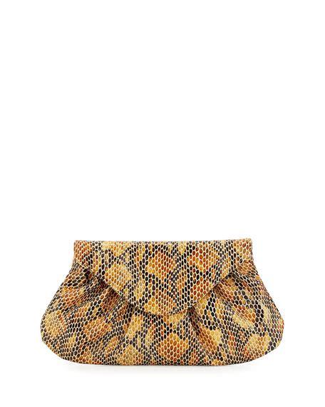 Merkins Serpent Embossed Clutch merkin lotte serpent embossed envelope clutch bag