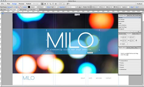 milo slick muse template by musethemes themeforest gt gt 18
