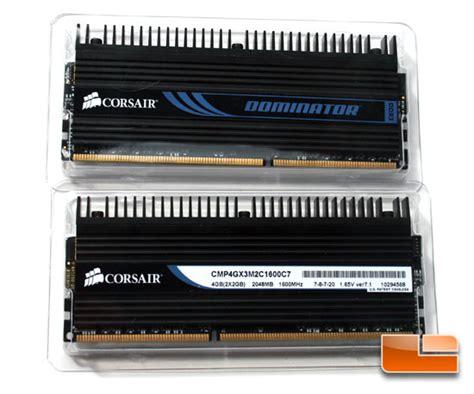 Ram 4gb Corsair Dominator corsair dominator 4gb ddr3 1600mhz c7 memory kit review