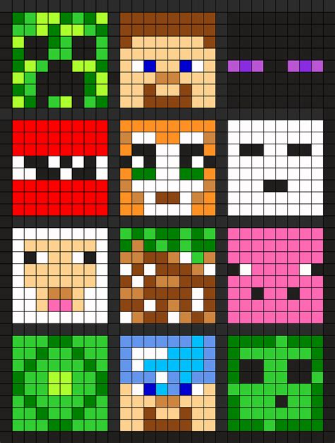 minecraft pattern ideas 6 of these little minecraft squares stitched on plastic