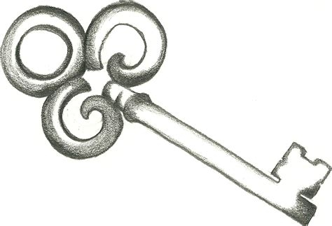 old fashioned tattoo designs fashioned key and key