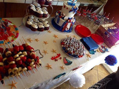 nautical baby shower food nautical theme baby shower food table baby stuff