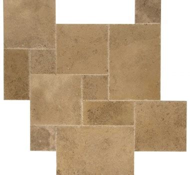 opus pattern travertine tiles premium tumbled walnut unfilled travertine opus romano